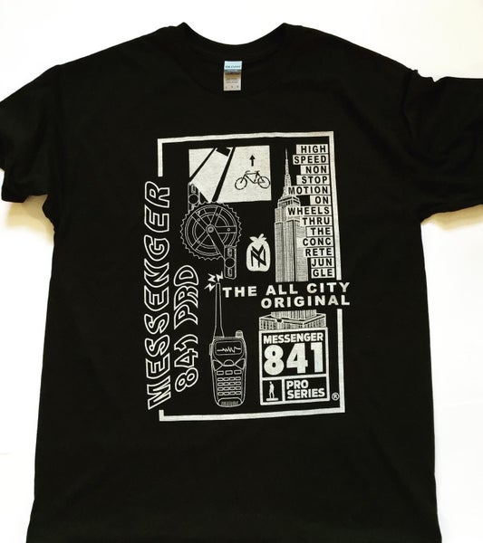 Image of Messenger 841 NYC Logo Tee and We Run The City Patch