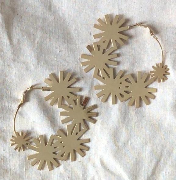 Image of Maxi Créoles fleuries