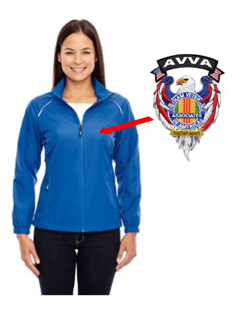 Image of AVVA Ladies Jacket with Associate Patch and AVVA Tab