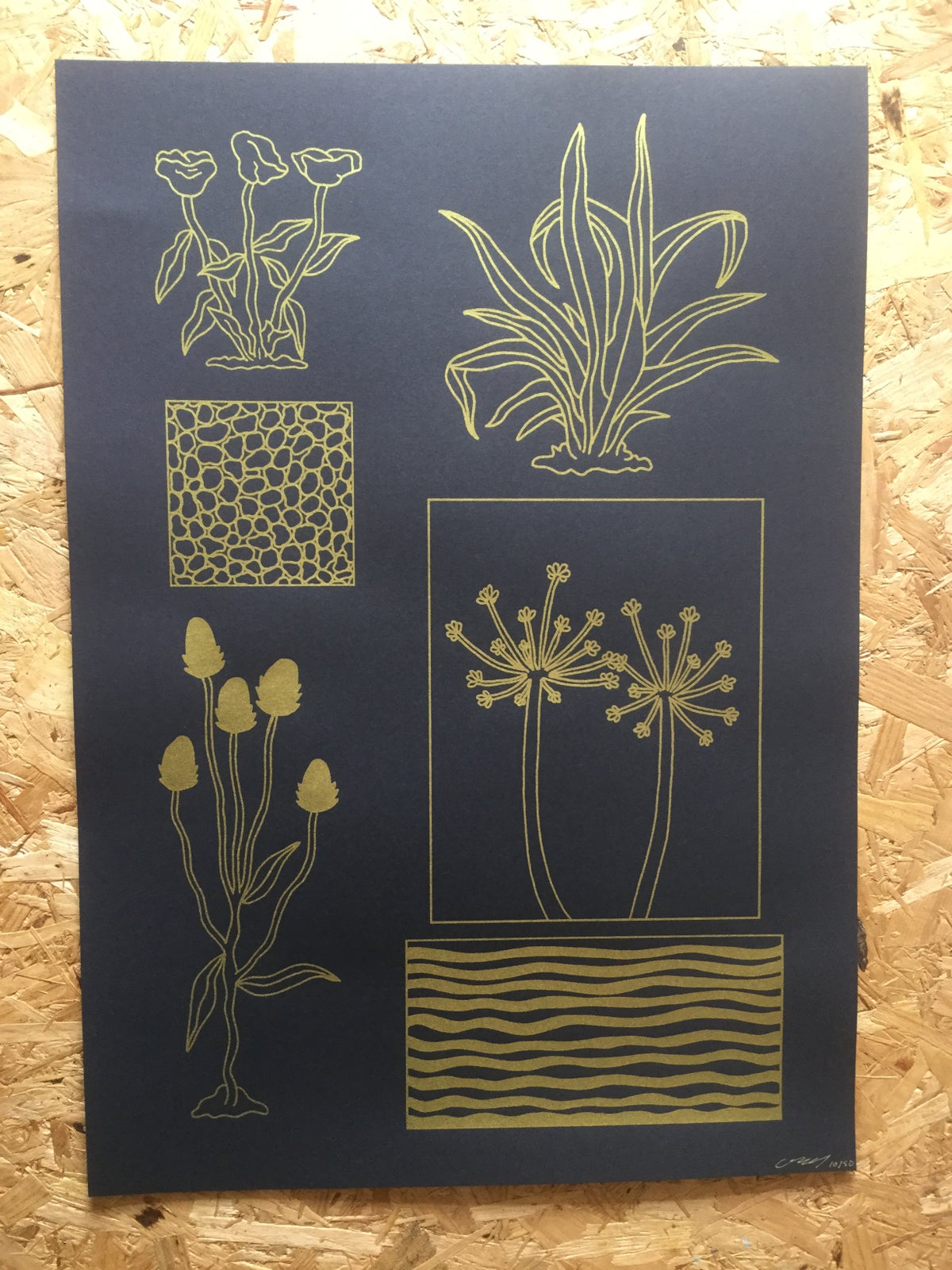 Image of A Garden by the Sea Large Screenprint poster