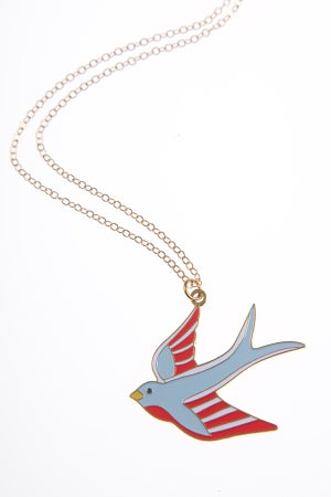 Image of 50% reduced! Swallow Necklace Gold