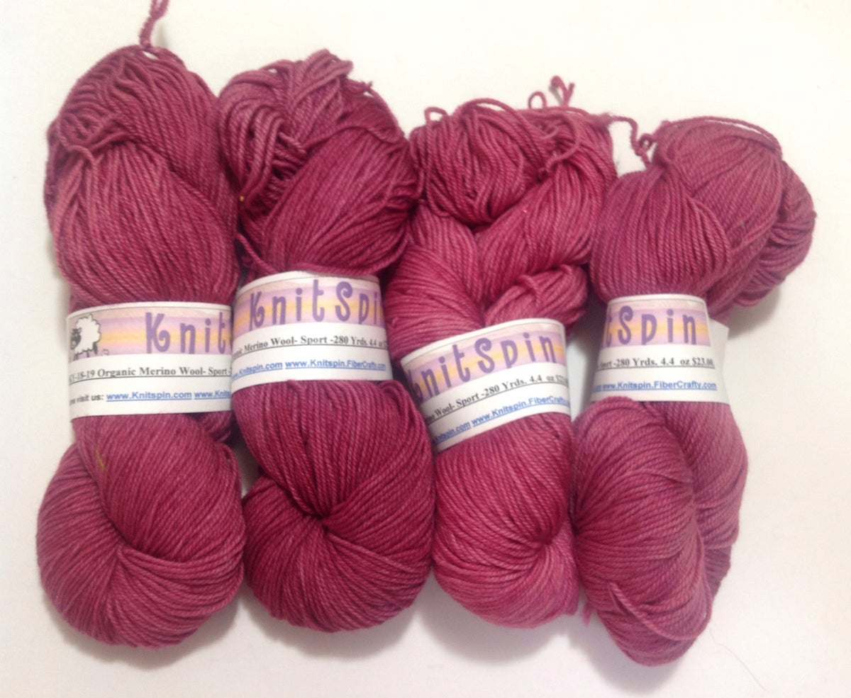 Image of Merino Wool Yarn Handdyed - 280 Yards - Red Solid Colors - Sport Weight