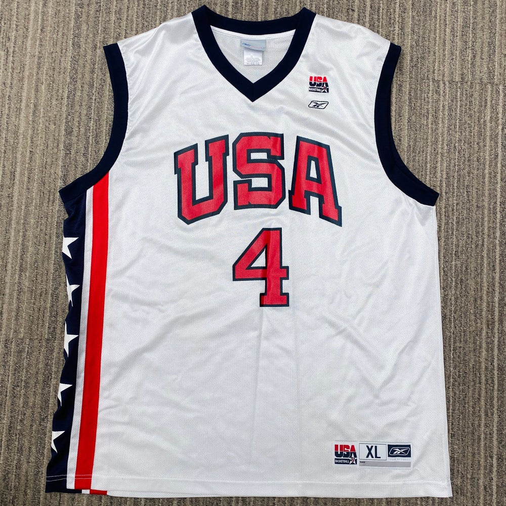 Image of Allen Iverson 2004 Team USA Reebok Jersey