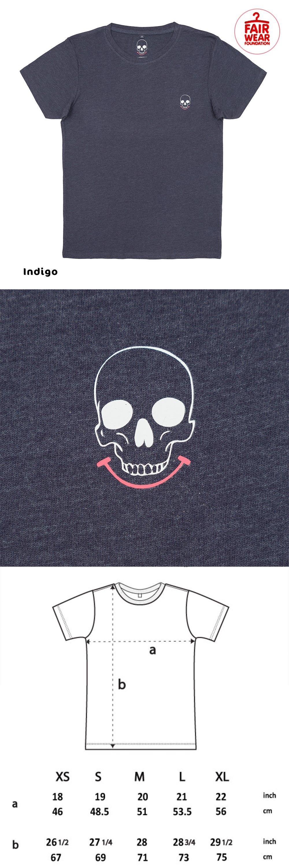 Not-So Basic Smiley Skull pocket Logo T-shirts