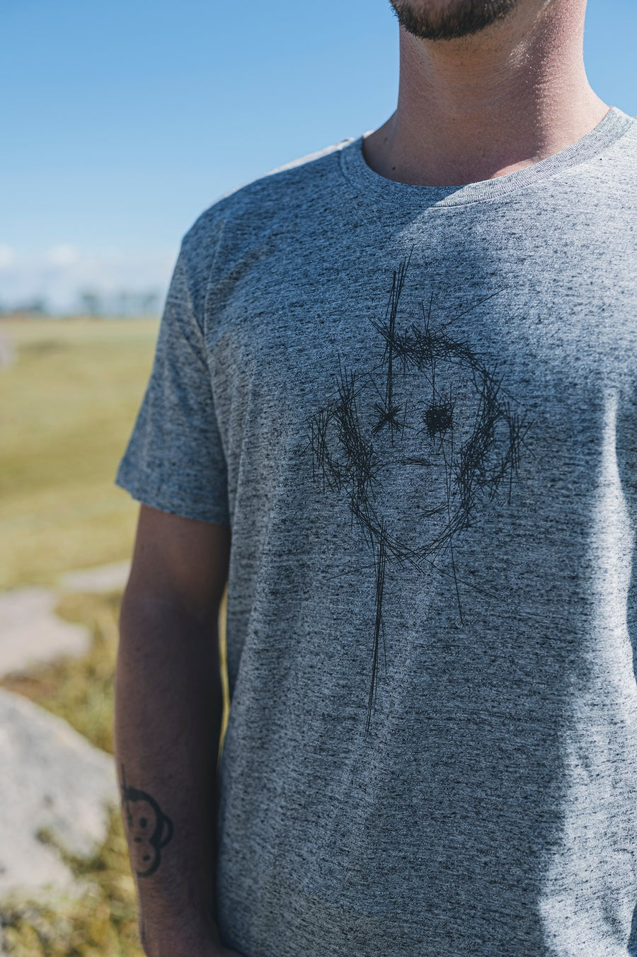 Image of Monkey Climber Surface shirt I Mid Heather Grey
