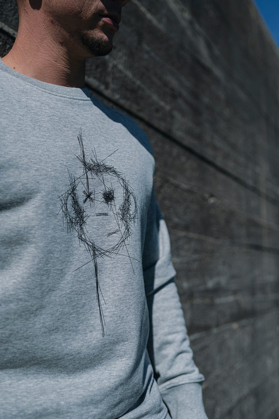 Image of Monkey Climber Surface crewneck I Mid Heather Grey