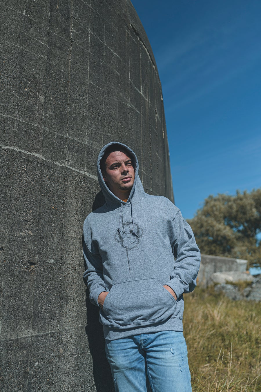 Image of Monkey Climber Surface hoodie I Mid Heather Grey