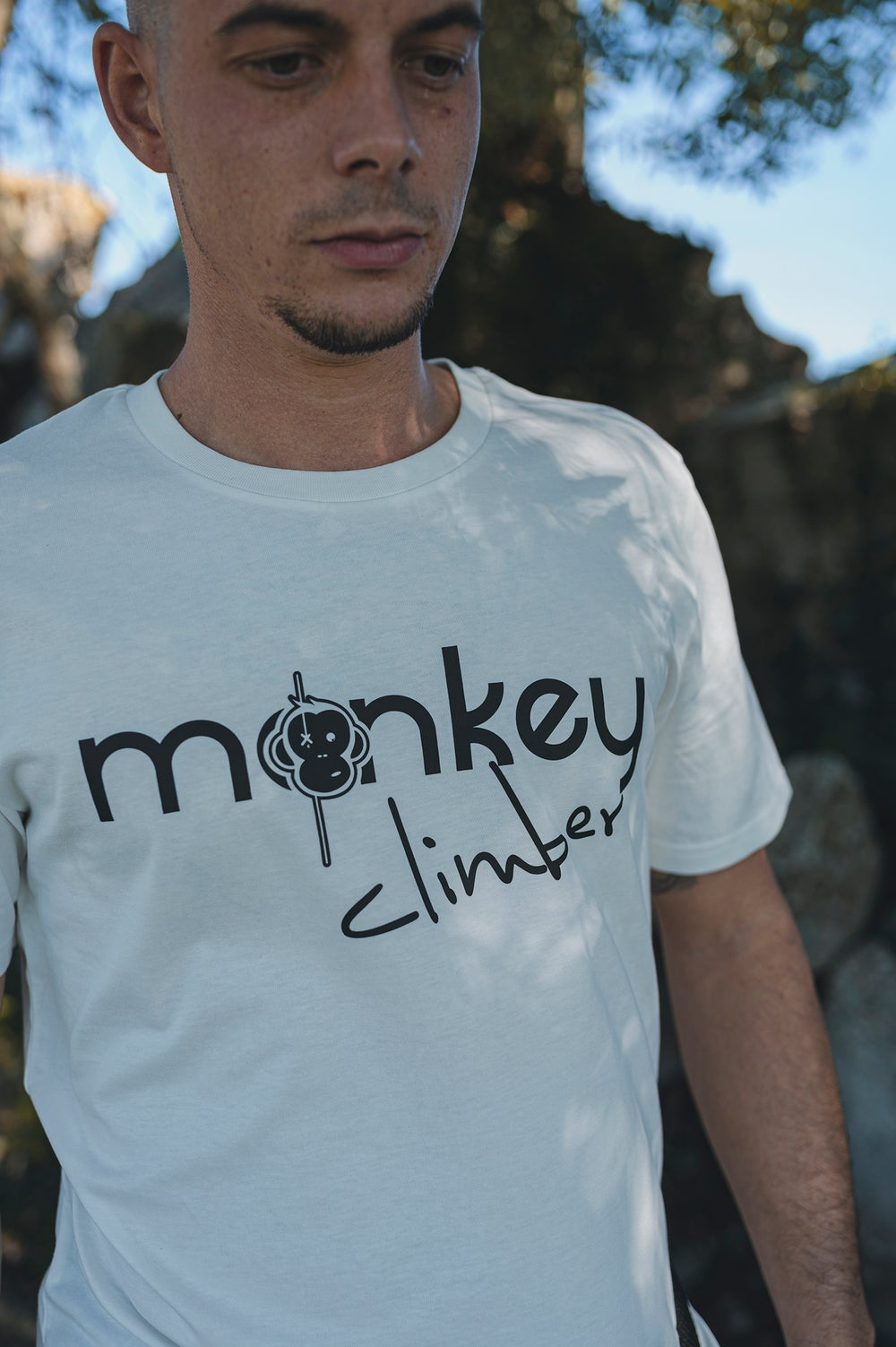 Image of Monkey Climber Front Cover shirt I Off White
