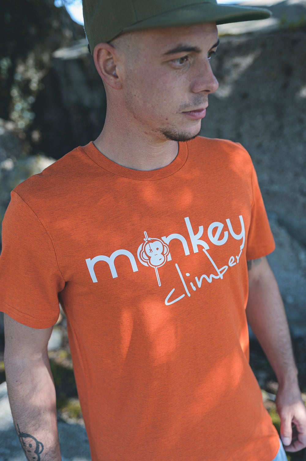 Image of Monkey Climber Front Cover shirt I Rust