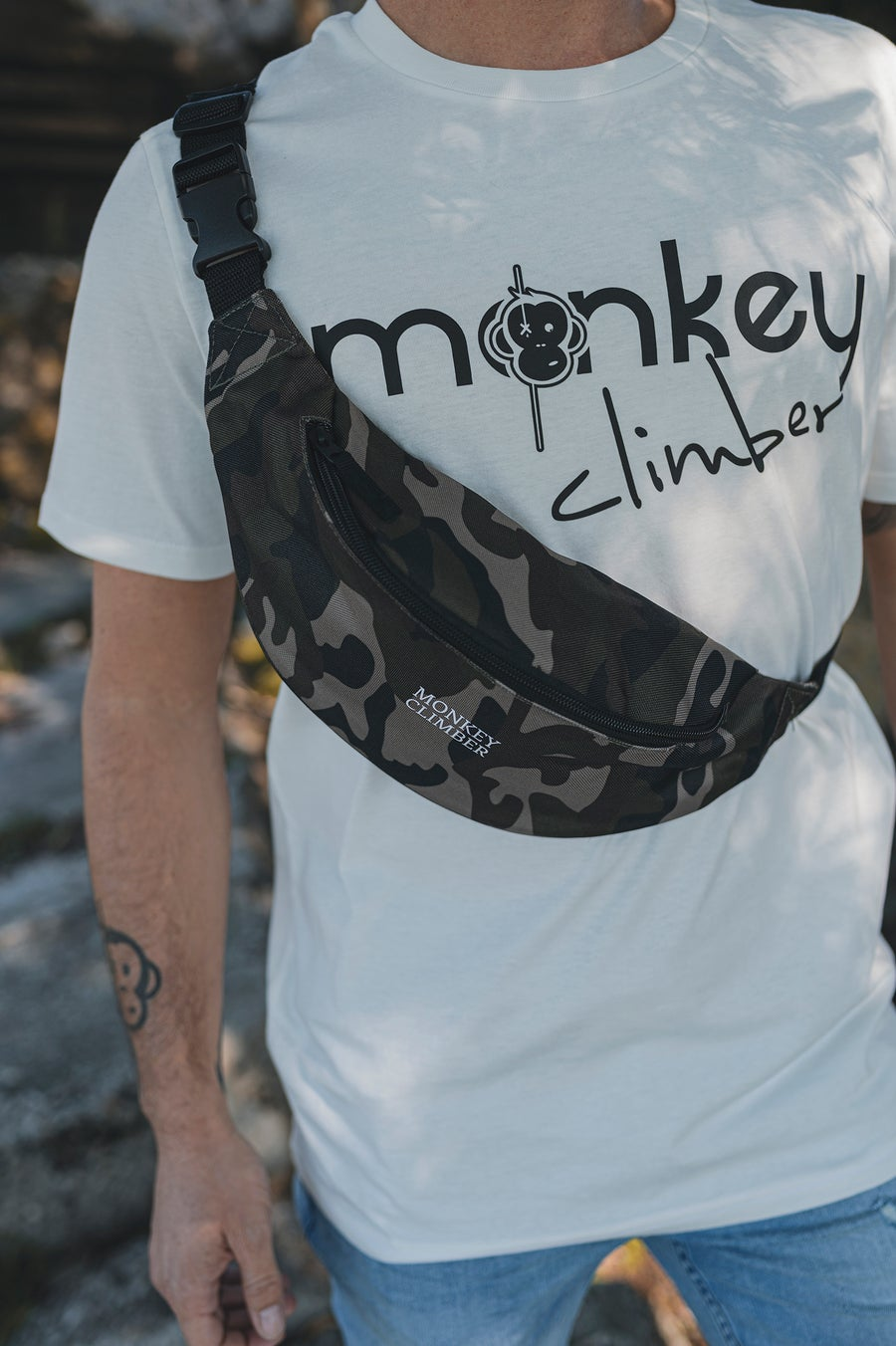 Image of Monkey Climber Bum Bag I DPM Camou