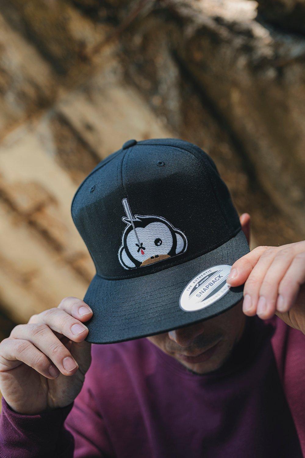 Image of Monkey Climber Logo Patch Snapback I Black