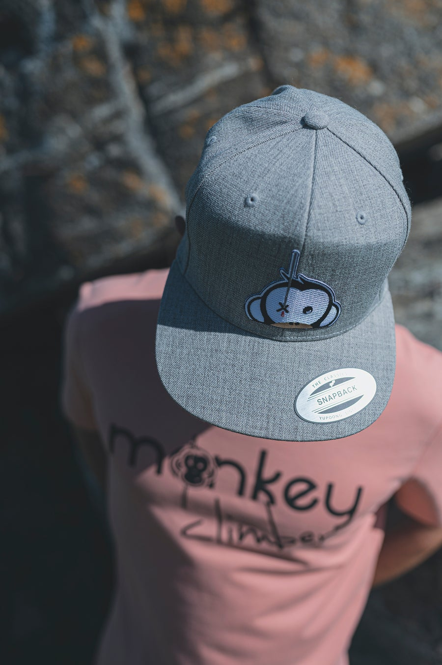 Image of Monkey Climber Logo Patch Snapback I Light Grey