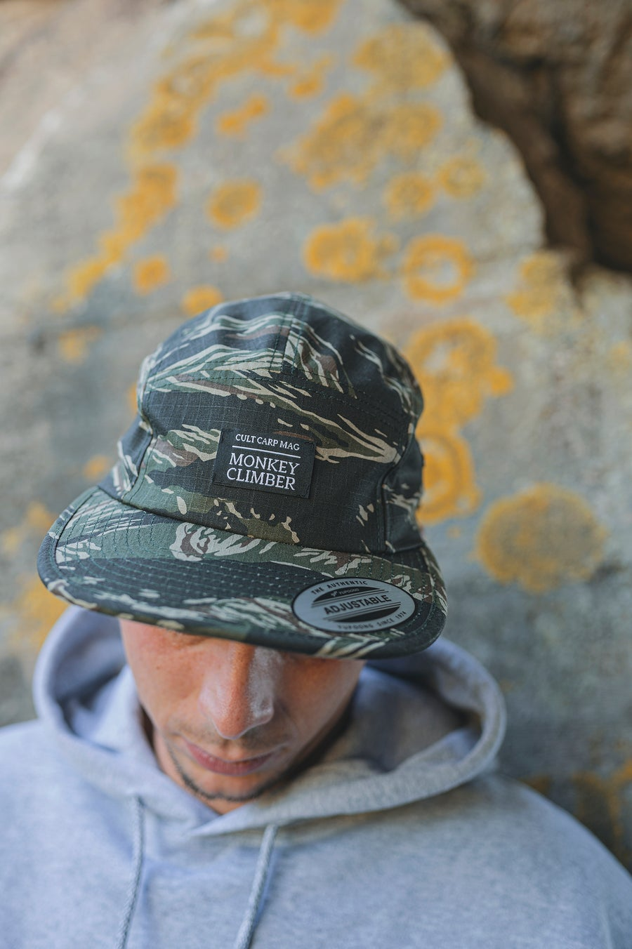 Image of Monkey Climber Cult 5 panel cap I Vietnamese Tiger camou