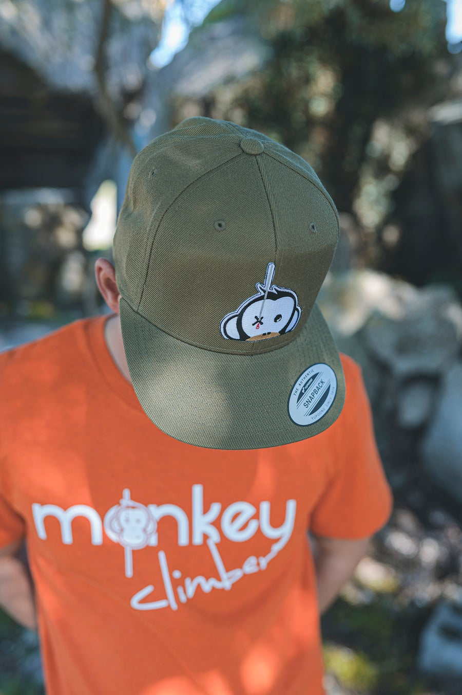 Image of Monkey Climber Logo Patch Snapback I Olive