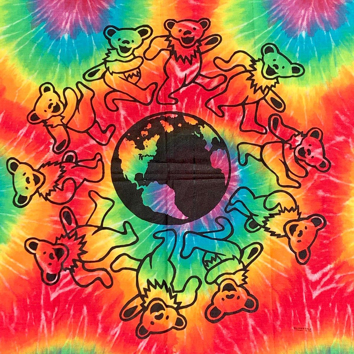 Original Vintage 90's Grateful Dead Bears Tapestry!