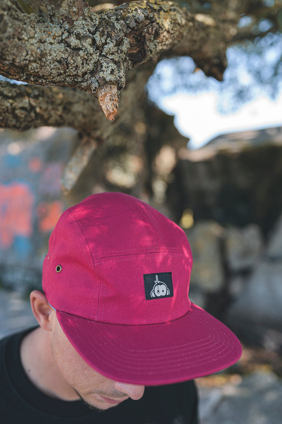 Image of Monkey Climber Halfawrap USA 5 panel I Burgundy (very ltd!)