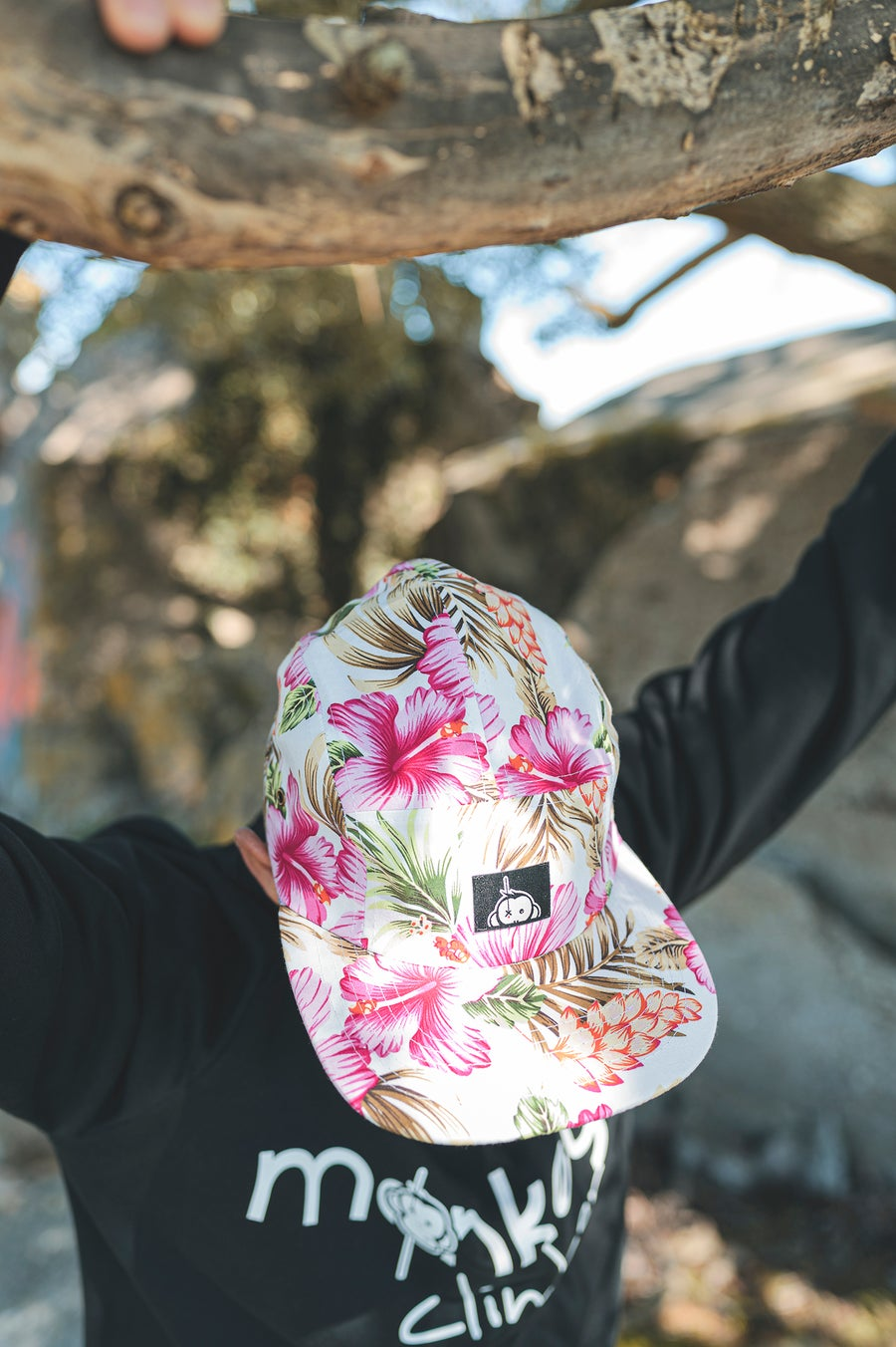 Image of Monkey Climber Halfawrap USA 5 panel I Flower Power I (very ltd!)