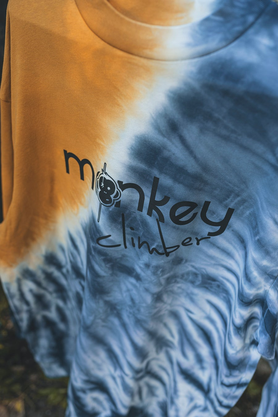 Image of Monkey Climber Front Cover oversized crew I Tie Dye