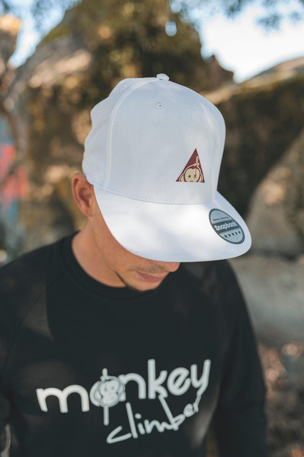 Image of Monkey Climber Triangle Logo snapback I White