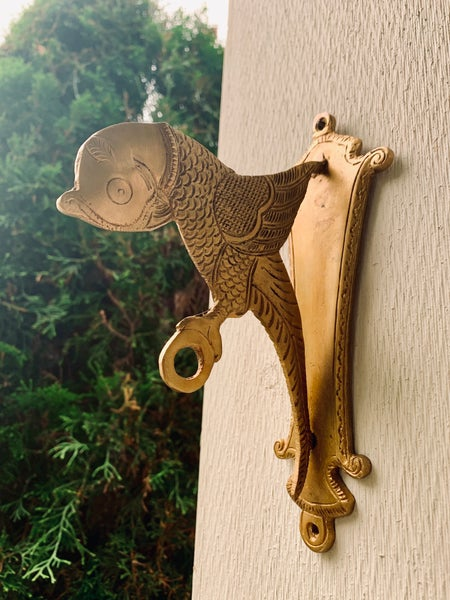 Image of Brass wall bird bracket