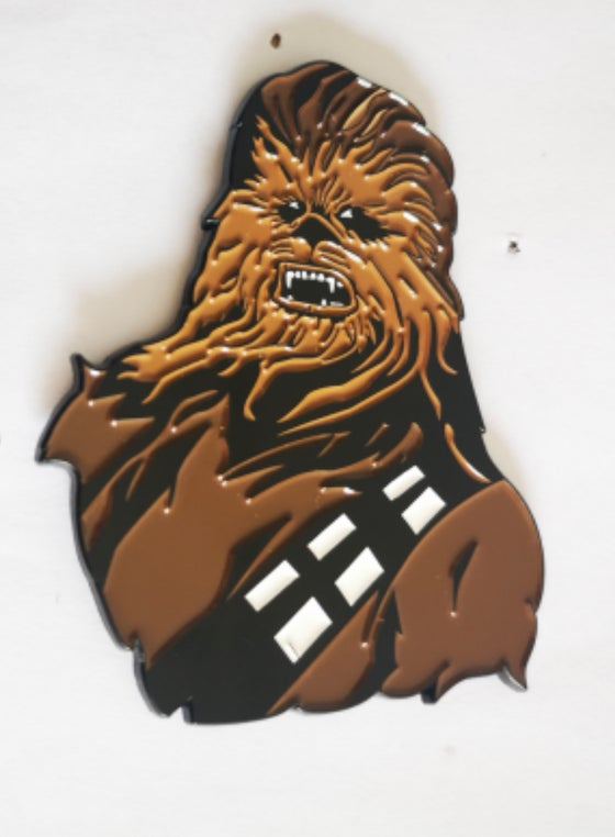 "Image of Chewbacca 2.75"" lapel pin"