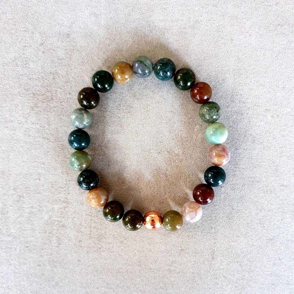 Image of OCEAN JASPER & COPPER BRACELET - 6mm & 8mm bead sizes