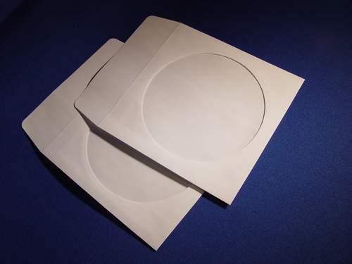 Image of 50 Pochettes papier blanches pour CD / DVD [rabat adhésif]