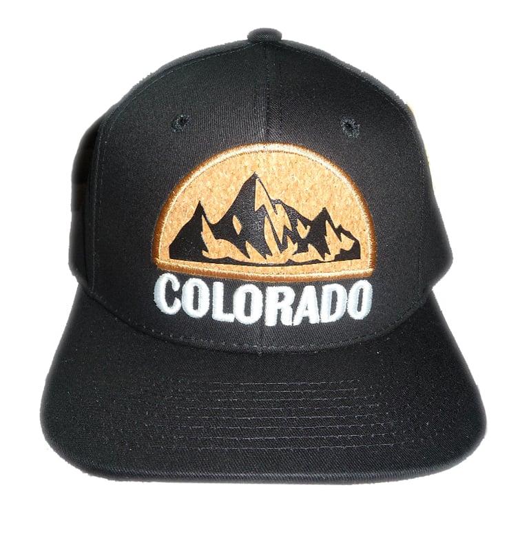 Image of COLORADO DENIM CORK LOGO SNAPBACK HAT BLACK