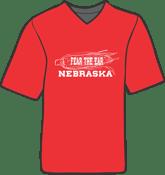Image of Fear the Ear Nebraska  Crew Neck Tee