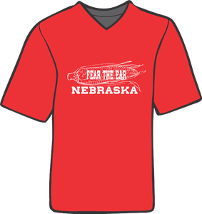 Image of Fear the Ear Nebraska  Crew Neck Tee