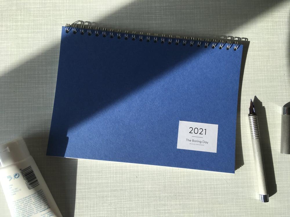 Image of Tischkalender 2021 Kobaltblau