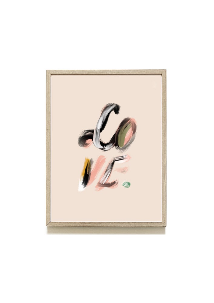 Image of LOVE Abstract Print