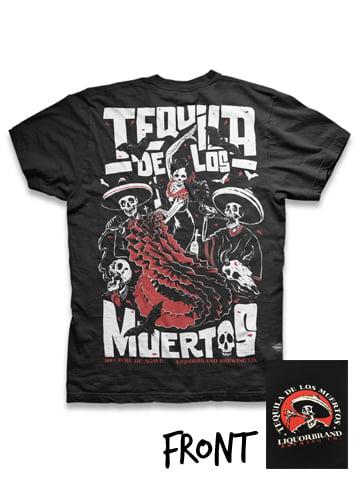 Image of LIQUORBRAND Tequila De Los Muertos Men's T-Shirt