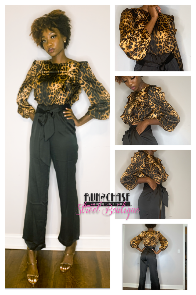 Image of Print pawty jumpsuit