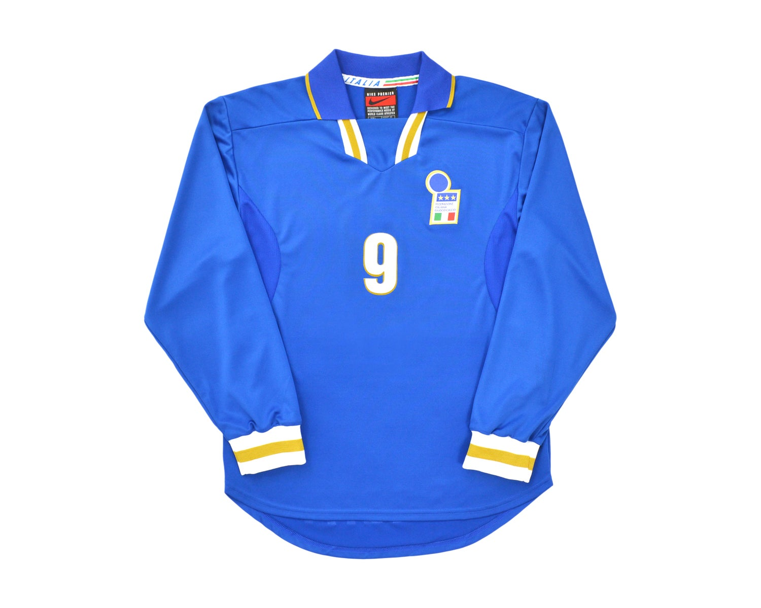 Image of 1996-97 Nike Italy Player Issue Home Shirt L '9'