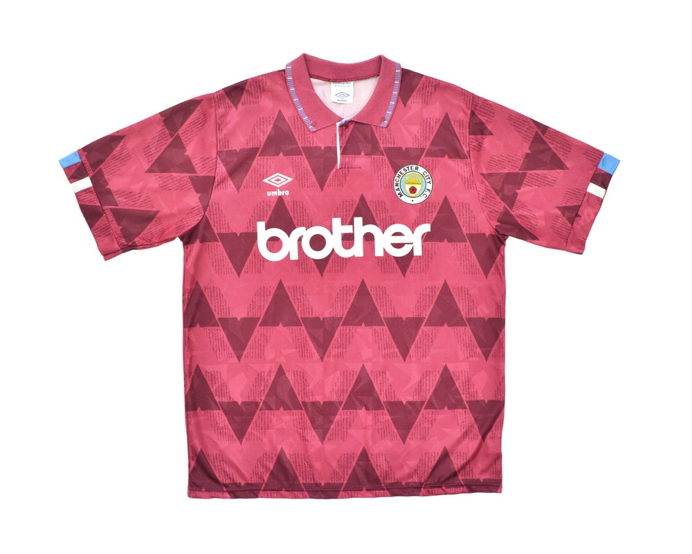 Image of 1990-92 Umbro Manchester City Away Shirt L '5'