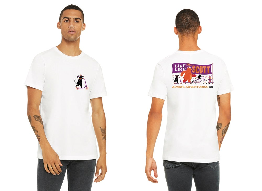 Image of Live Like Scott 2020 Virtual Event Pocket Print T-Shirt