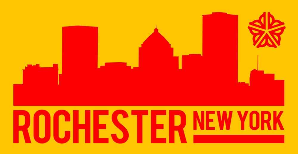 Image of Rochester Skyline Sticker