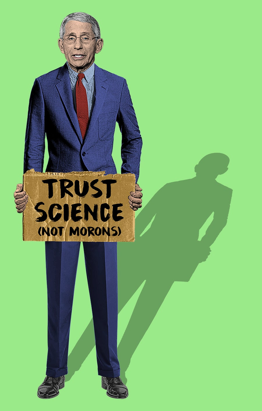 Image of Dr. Fauci / Trust Science Sticker