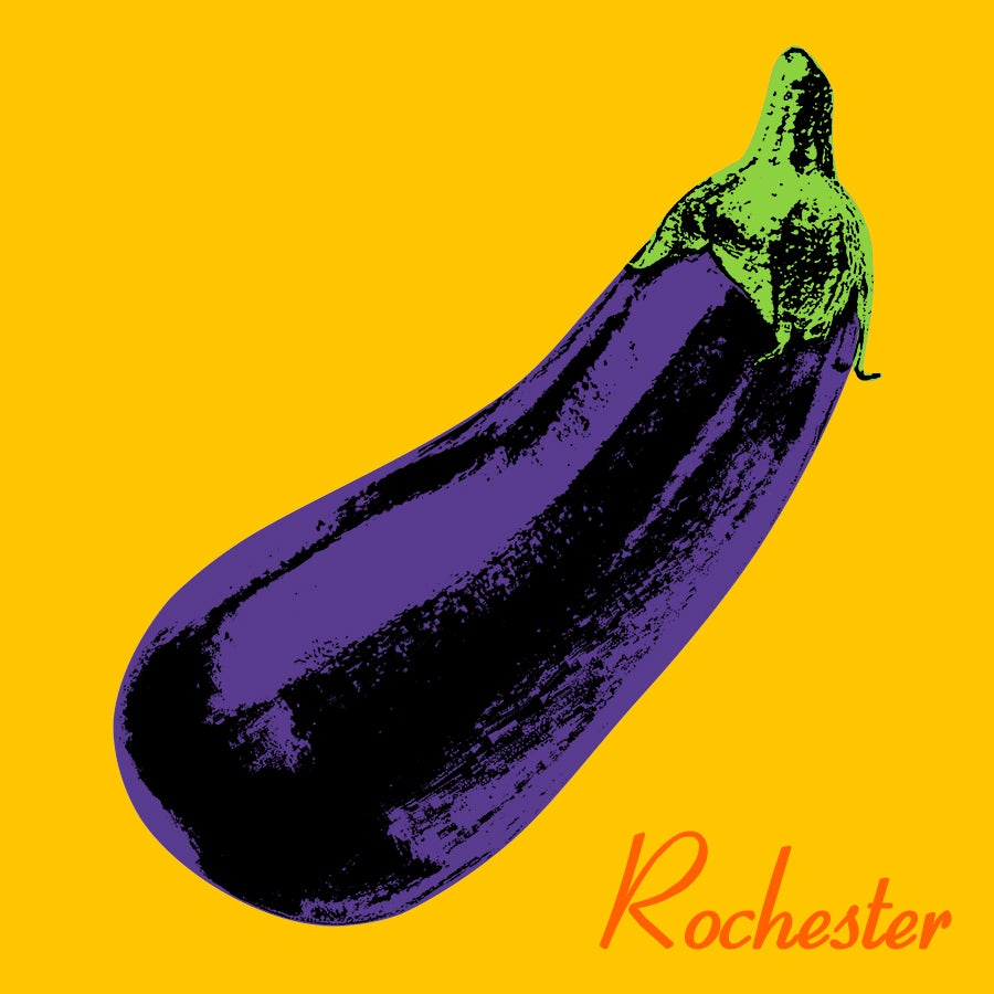 Image of Rochester Eggplant Sticker
