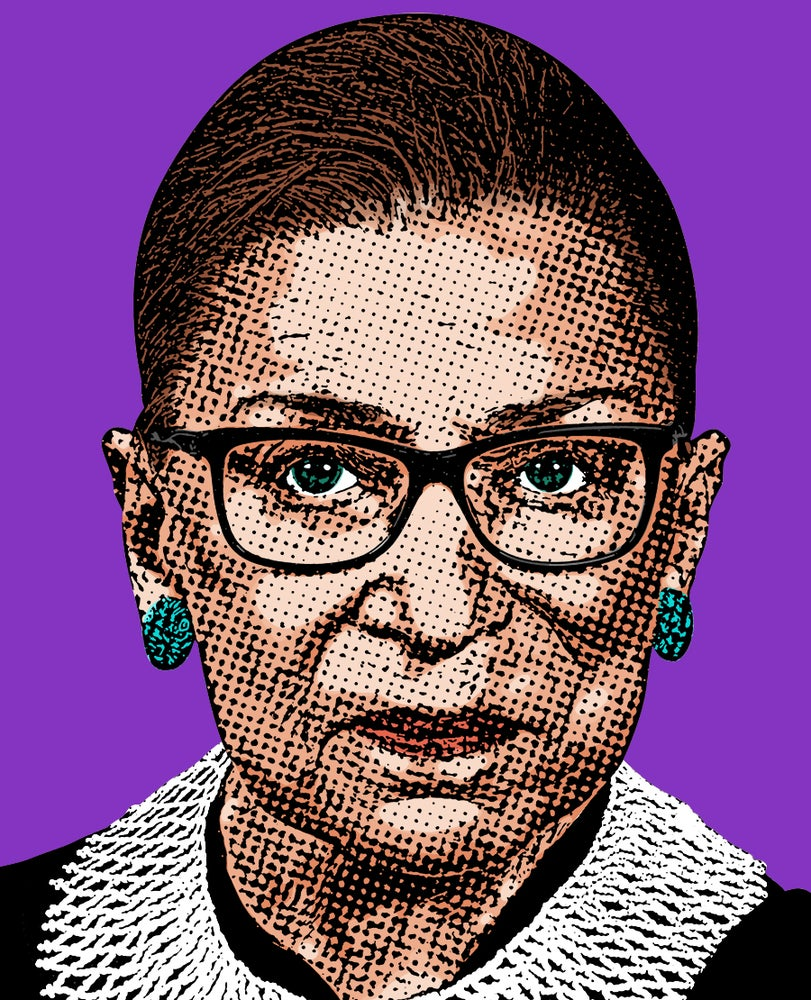Image of Ruth Bader Ginsburg Sticker