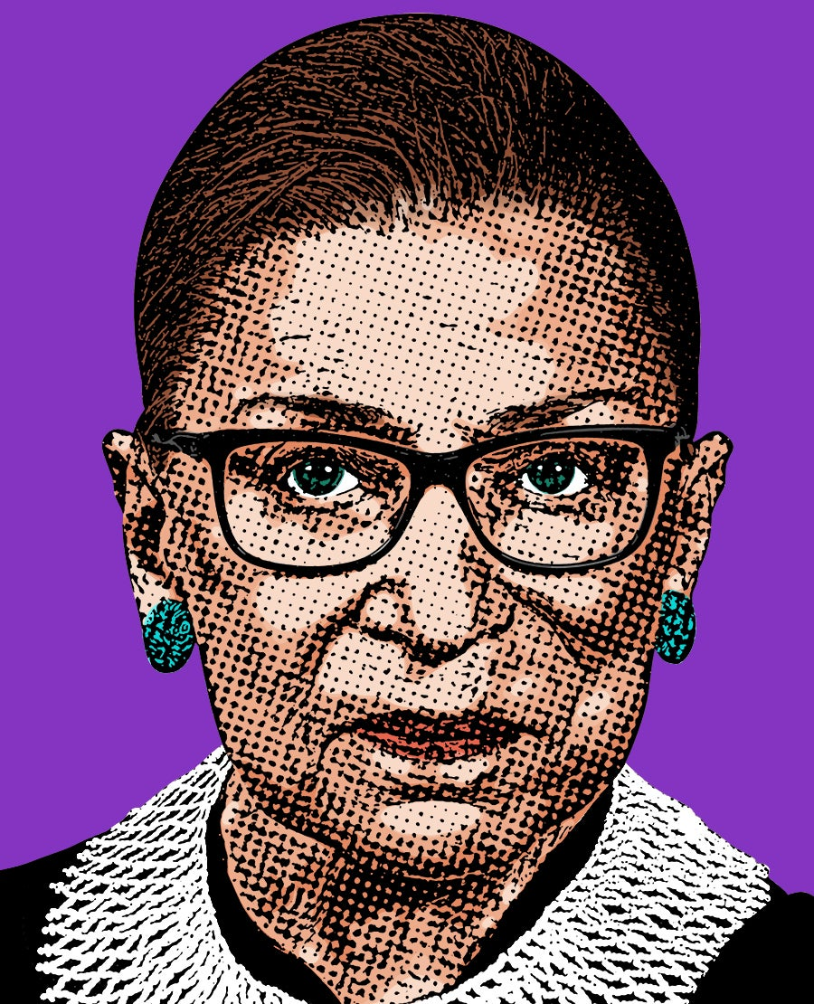 Image of Ruth Bader Ginsburg Sticker