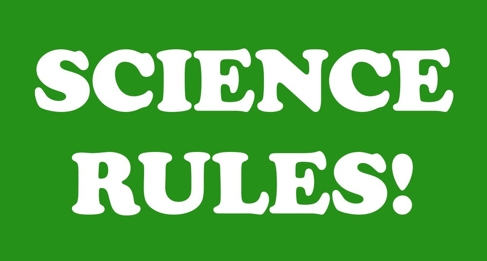 Image of Science Rules! Sticker