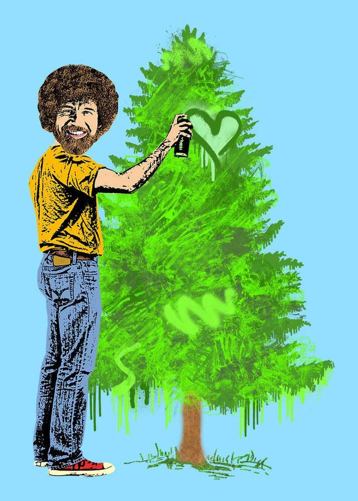 Image of Bob Ross Sticker