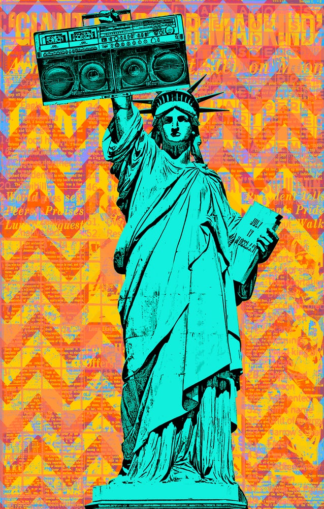 Image of Statue Remix Sticker