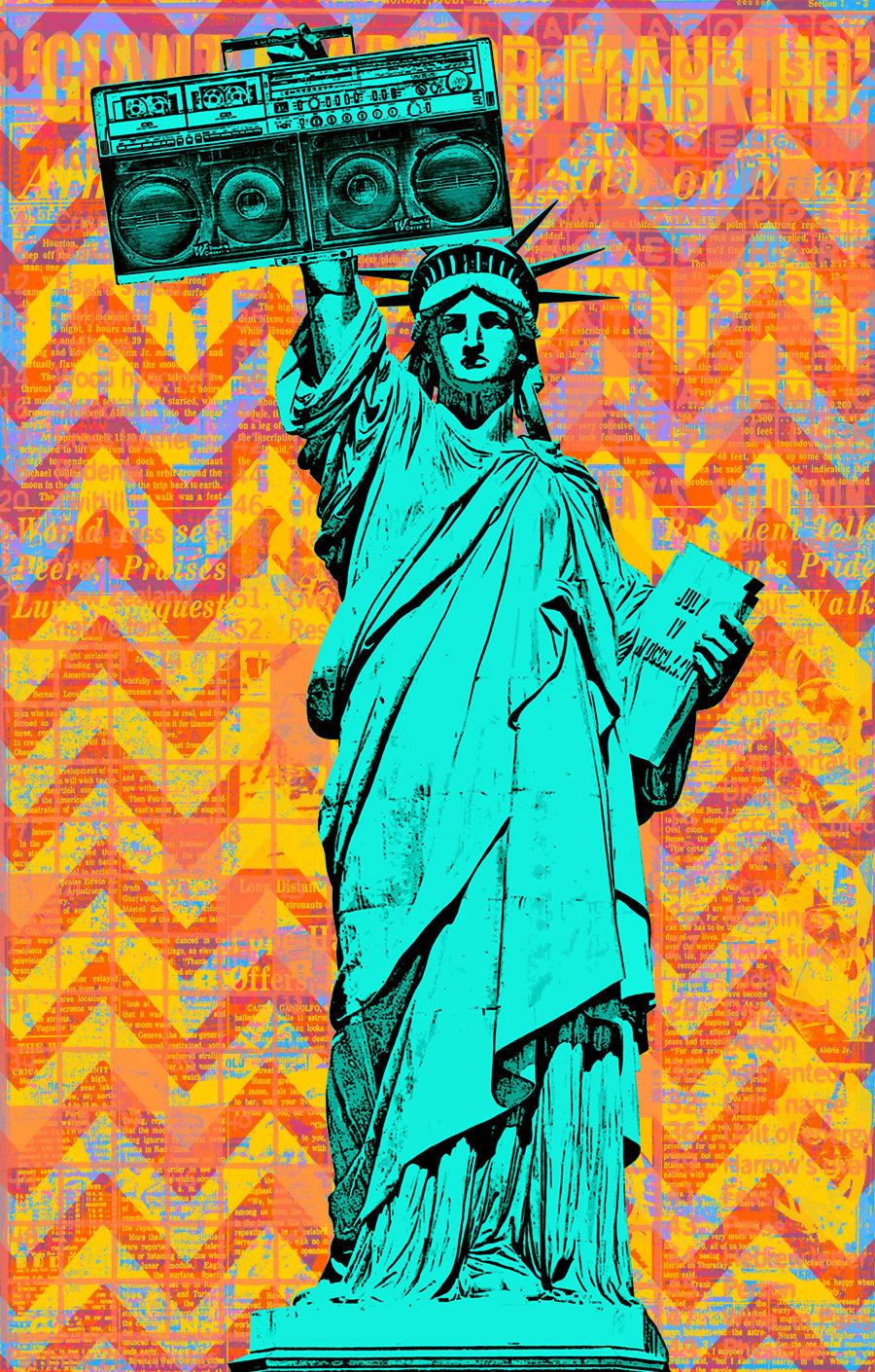 Image of Statue Remix Sticker