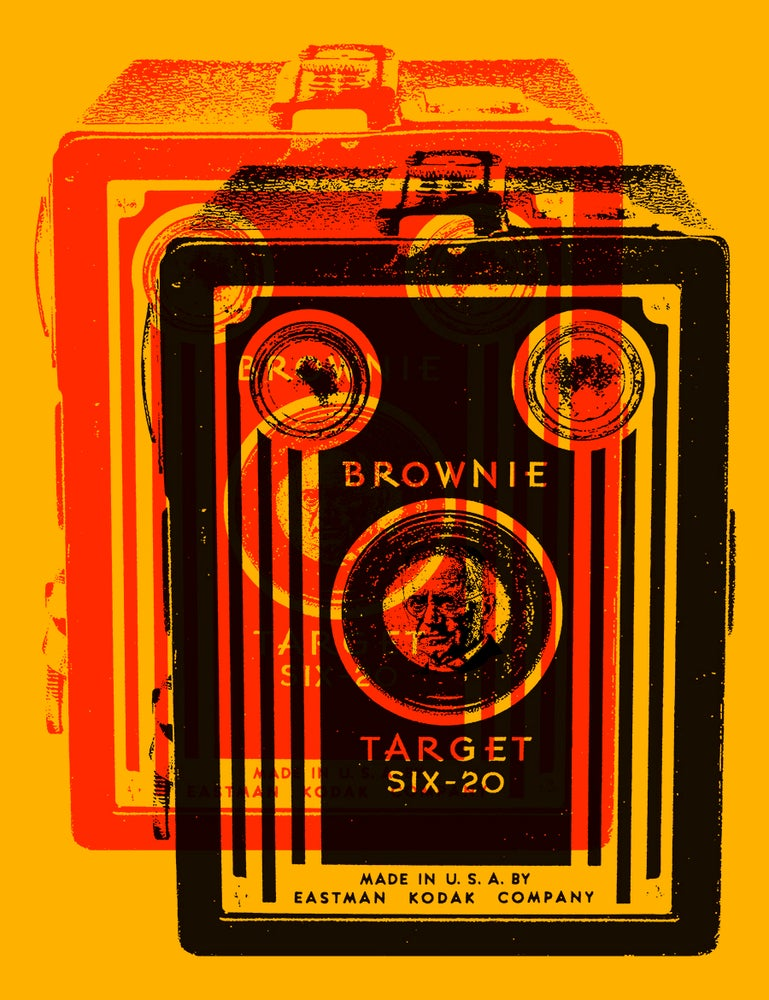 Image of Kodak Brownie Sticker