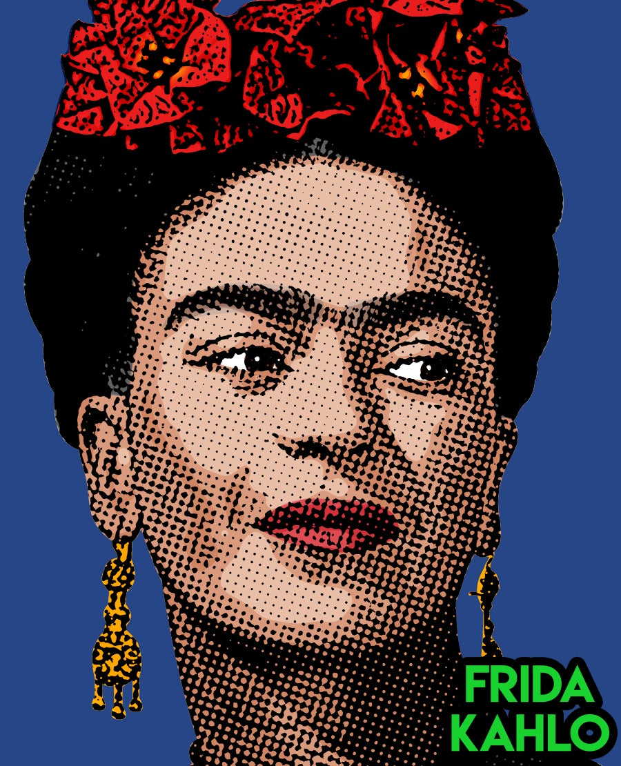 Image of Frida Sticker (Blue)