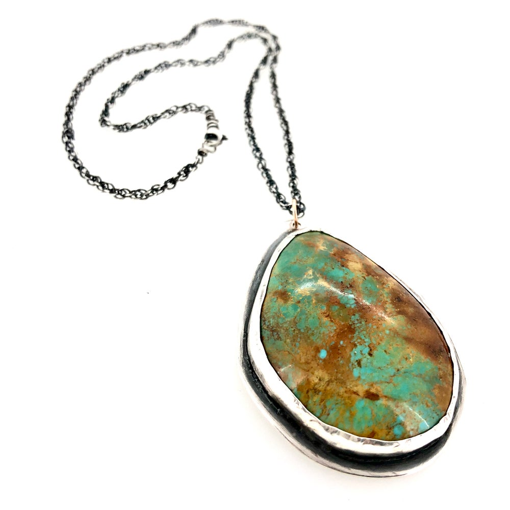 Image of 69 carat Tyrone turquoise necklace