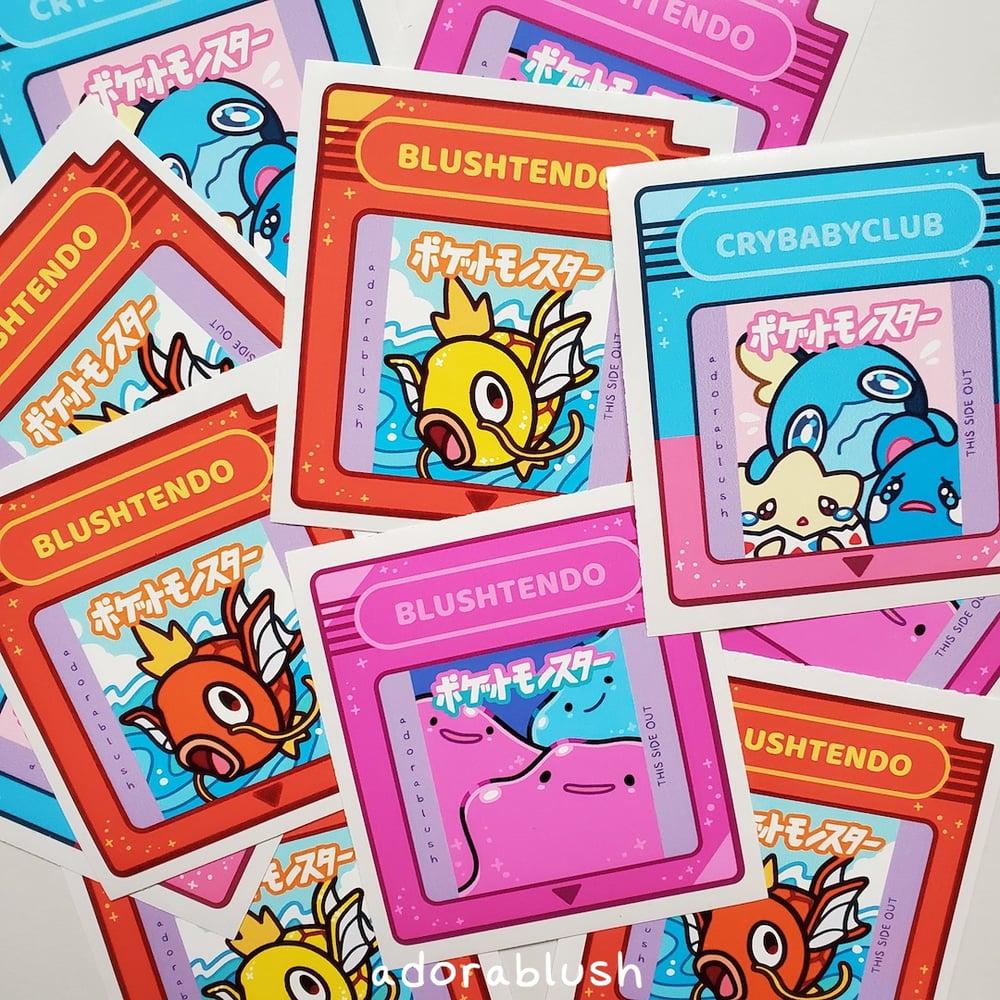 """Game Cartridges 3"""" Waterproof Stickers"""